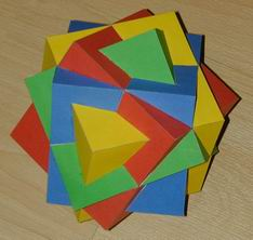 Compound of four cubes
